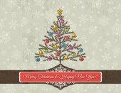 Pozadí s vánoční stromeček, vektorové — Stock vektor