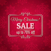 Red christmas background and sale offer, vector — ストックベクタ