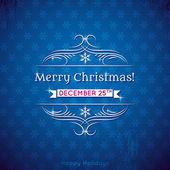 Natal fundo, ilustração vetorial azul — Vetorial Stock
