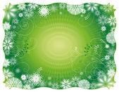 Green christmas background,vector illustration — Stock Vector