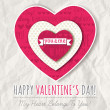 Background with red valentine heart and wishes text, vector — Stock Vector #59880495