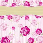 Pink valentine background, vector — Stock Vector