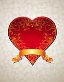 Red  heart, vector — Stockvektor