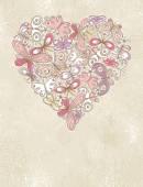 Valentine heart of butterfles — Wektor stockowy
