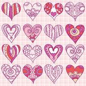 Hand drawing valentines heart, vector — Cтоковый вектор