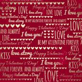 Red background with  valentine heart and wishes text — Stock Vector