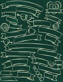 Set of ribbon over green background, vector  — Stockvector