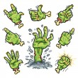 Cartoon Zombie Hands Set for Horror Design — Stock Vector #52004823