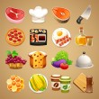 Food and Kitchen Accessories Icons Set1.1 — Stock Vector #52465053