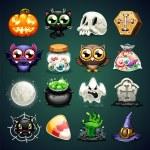 Halloween Cartoon Icons Set — Stock Vector #53513327