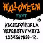 Хэллоуин векторный шрифт — Cтоковый вектор #53742801