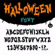 Halloween Vector Font — Vector de stock  #53742801