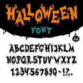 Halloween Vector Font — Stockvektor