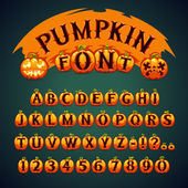 Halloween Pumpkin Font — Stock Vector