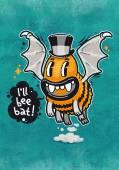 Cartoon Monster Ill Bee Bat — Stock Photo