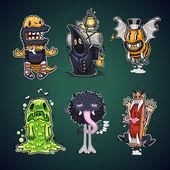 Cartoon Characters Set — Stock Vector