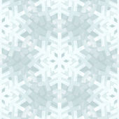 Shiny Silver Light Snowflakes Seamless Pattern for Christmas Des — Stock Vector