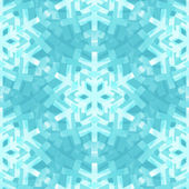 Shiny Blue Snowflakes Seamless Pattern for Christmas Desing — ストックベクタ