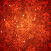 Shiny Red Snowflakes Seamless Pattern for Christmas Desing — Wektor stockowy