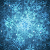 Shiny Blue Snowflakes Seamless Pattern for Christmas Desing — Cтоковый вектор