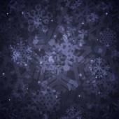 Shiny Dark Snowflakes Seamless Pattern for Christmas Desing — Stock Vector