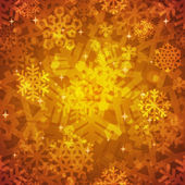 Shiny Golden Snowflakes Seamless Pattern for Christmas Desing — Cтоковый вектор