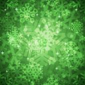 Shiny Green Snowflakes Seamless Pattern for Christmas Desing — Cтоковый вектор