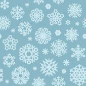 Christmas Seamless Blue Pattern with a Snowflakes — Vettoriale Stock