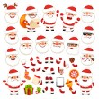 Set of Cartoon Santa Claus for Your Christmas Design or Animation — Stock Vector #57396209