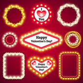 Valentines Lights Decorations Set3 — Stock Vector
