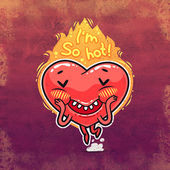 Cute Burning Heart for Valentines Day — Stock Photo