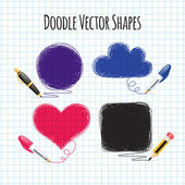 Vector Doodle Shapes Set — Stock Vector