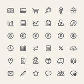 Conjunto de iconos de negocios de línea — Vector de stock