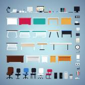 Office Furniture Set — Stock Vector