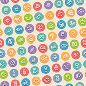 Color Tilted Seamless Pattern with Food Icons — Διανυσματικό Αρχείο