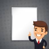 Gray Business Background with Boss — Vetor de Stock