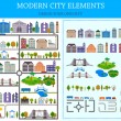 Elements of the modern city - stock vector. — Stock Vector #53593655