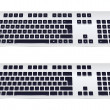 Vector Illustration of a Modern Keyboard on a White Background — Vettoriale Stock  #53595495
