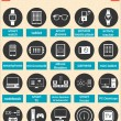Vector illustration of smart devices and wearable electronics — Stock Vector #53595635