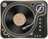 Interface Turntables on Whete Background. — Stock Vector