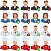 Set of Vector Icons of People of Different Trades — Stock Vector