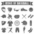 Set of icons of baseball on white isolated background — Stock Vector #58096259