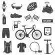 Vector set of icons about cycling — Stock Vector #58096857