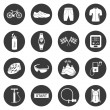 Vector set of icons isolated on cycling — Stock Vector #58096865