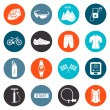 Vector Set of Icons about Cycling — Stock Vector #58096873