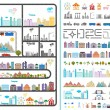 Elements of the modern city - stock vector — Stock Vector #61731355