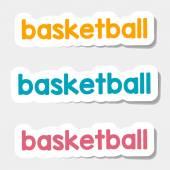Vector logo basketball on a light background — Stock Vector
