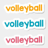 Vector logo volleyball, on a light background — Stock Vector
