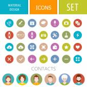 Set of icons in the style of the material design for mobile appl — Stock Vector