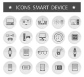 Vector Illustration Smart Devices on white background — Stock Vector